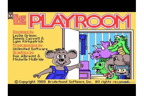 Playroom gameplay (PC Game, 1989) - YouTube