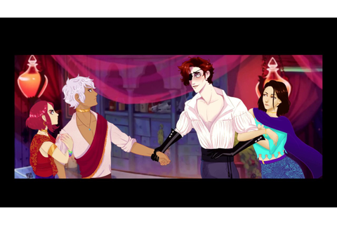 The Arcana game, Julian, Asra and our MC speed painting ...