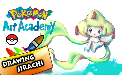 Pokemon Art Academy 3DS Gameplay - Drawing Jirachi - YouTube