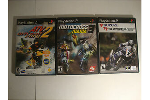 PlayStation 2 PS2 Video Game Lot Motocross Mania 3 Suzuki ...