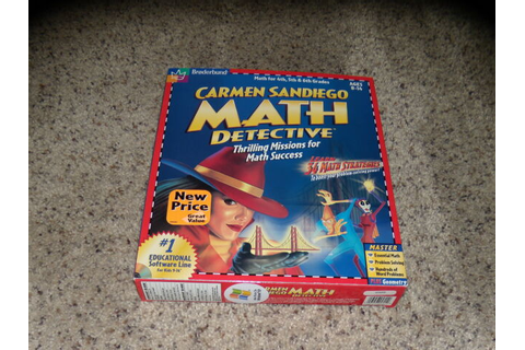 Carmen Sandiego Math Detective (PC & Macintosh) Game New ...