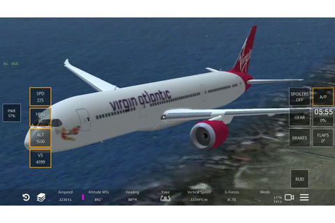 Infinite Flight Boeing 787 flight simulator game play ...
