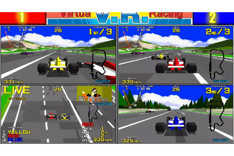 Virtua Racing - 3 player game (MAME 170b) - YouTube