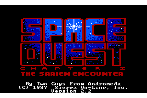 Space Quest: The Sarien Encounter Tandy Coco game