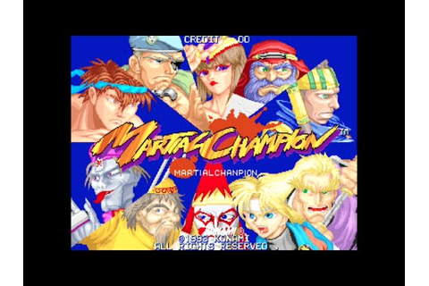 Martial Champion - Arcade Gameplay - Konami 1993 - YouTube