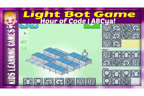 Light Bot Game - Hour of Code Lightbot - ABCya! Level 1 ...