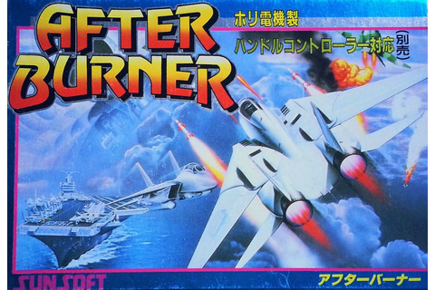 After Burner II (1989) NES box cover art - MobyGames