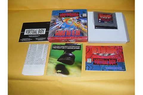 VIRTUAL BOY GAME RED ALARM NEW SEE DESCRIPTION 45496770068 ...