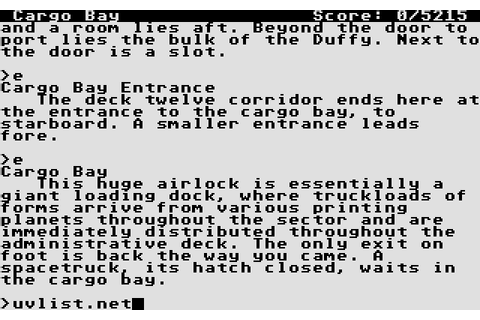 Stationfall (1987) by Infocom Atari ST game