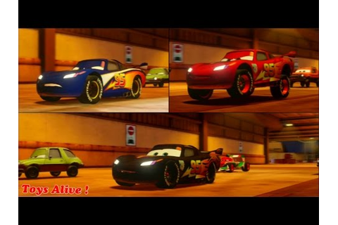 Cars 2 Game Play - 3 Different Lightning McQueens in split ...