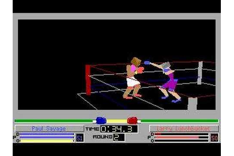 4D Sports Boxing (DOS) - Paul Savage has some fun - YouTube