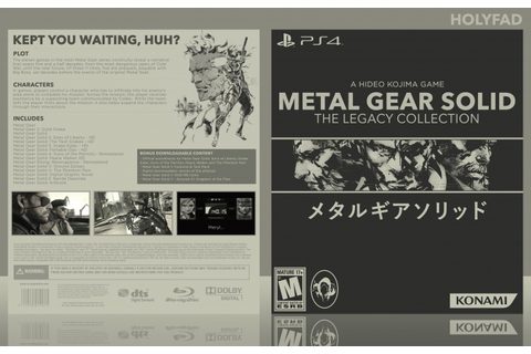 Metal Gear Solid: The Legacy Collection PlayStation 4 Box Art Cover by ...