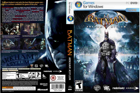 PC Games CD Cover: Batman Arkham Asylum