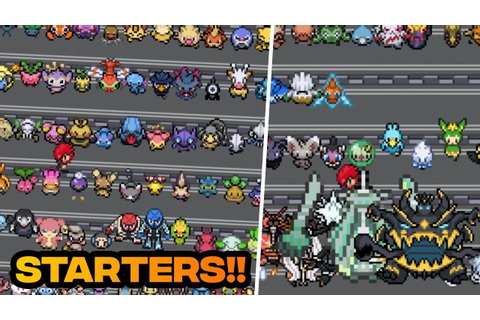 POKEMON FAN GAME WITH ALL POKEMONS AS STARTER POKEMON ...