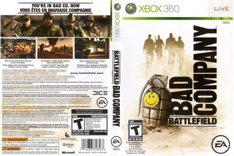 Games Covers: Battlefield - Bad Company - Xbox 360
