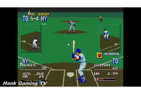 Games We Love: Sports Talk Baseball (Sega Genesis) - YouTube