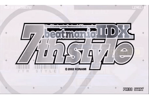beatmania IIDX 7th style arcade video game by Konami (2002)