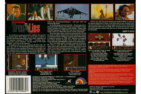 True Lies (1994) SNES box cover art - MobyGames