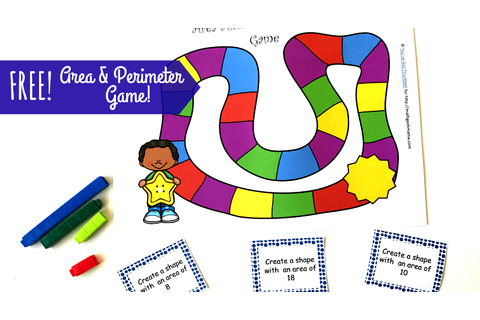 Hands On Area and Perimeter Game {FREE}
