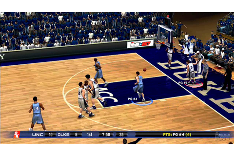 College Hoops 2K7 Xbox 360 Gameplay - Heels - YouTube
