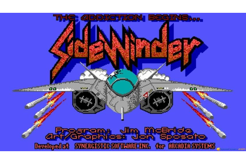 Sidewinder gameplay (PC Game, 1988) - YouTube