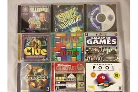 Lot of 10 Vintage PC Games - Space Invaders, Asteroids ...