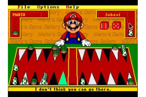 Mario's Game Gallery - 1995 - Backgammon - YouTube