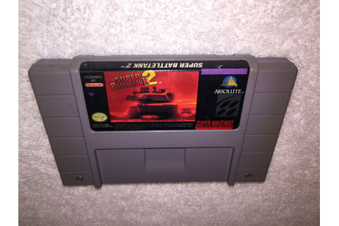 Super BattleTank 2 (Super Nintendo SNES) Game Cartridge Vr ...