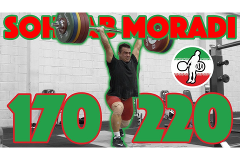 Sohrab Moradi Heavy Training (170kg Snatch + 220kg Clean ...