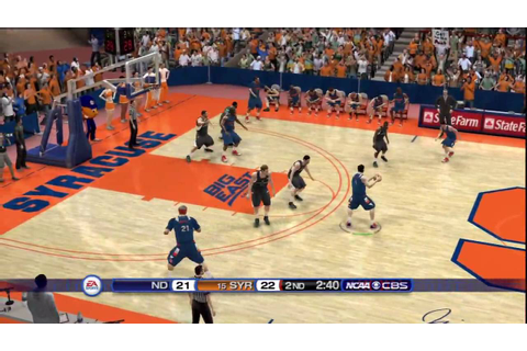 NCAA Basketball 10 (PS3) Notre Dame vs. Syracuse CPU game ...