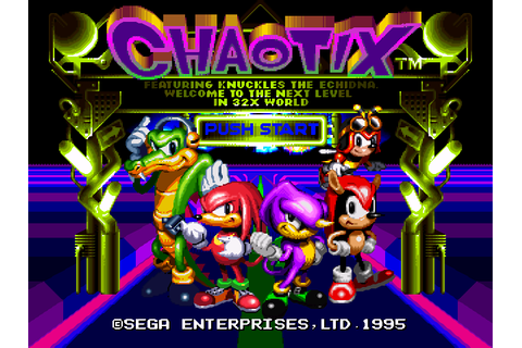 Knuckles Chaotix 32X Download Game | GameFabrique