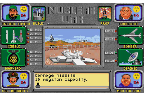 Nuclear War (Commodore Amiga) | Spel | Pinterest | Game ...