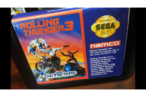 Classic Game Room - ROLLING THUNDER 3 review for Sega ...