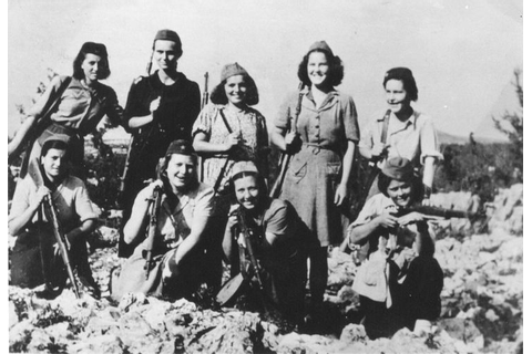 Yugoslav partisans during WWII, fighting not only the ...