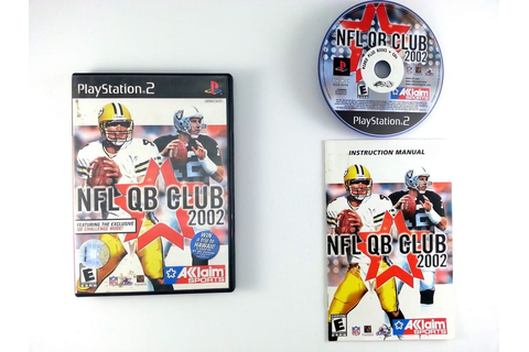 NFL QB Club 2002 game for Playstation 2 (Complete) | The ...