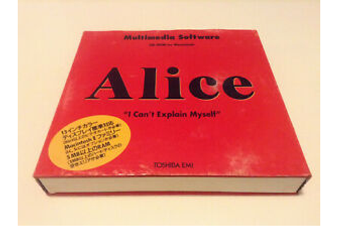Alice: An Interactive Museum (I Can't Explain Myself) MAC ...