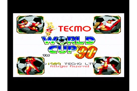 Tecmo World Cup '90 - Arcade Gameplay - 1989 HD - YouTube