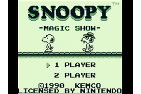 Snoopy's Magic Show Game Boy Title Music - YouTube