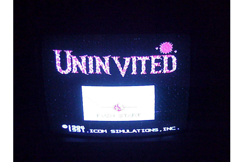 NES Uninvited Game Cartridge, no. NES-UV-USA, cleaned and ...