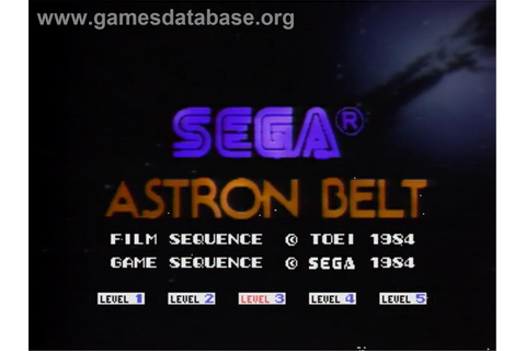 Astron Belt - MSX Laserdisc - Games Database