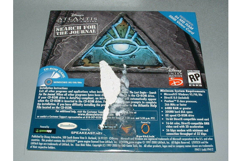 PC Game: Disney's Atlantis: The Lost Empire -- Search for ...