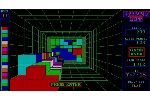 Download Blockout puzzle for DOS (1989) - Abandonware DOS