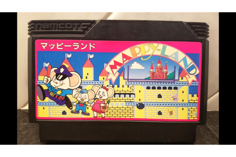 Classic Game Room - MAPPY-LAND review for Famicom - YouTube