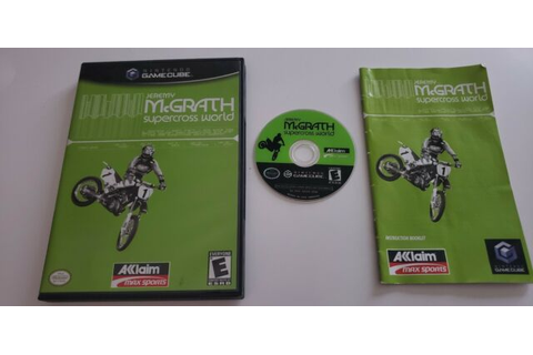 Jeremy McGrath Supercross World Nintendo GameCube COMPLETE ...