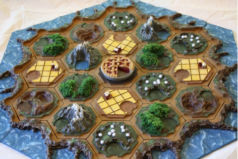 Settlers of Catan 3d printed Magnetic Game Board | Etsy