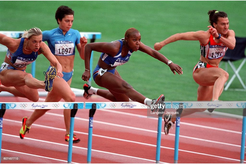 GAMES track and field athletics race women french hurdles ...