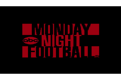 ABC Monday Night Football (USA) ROM