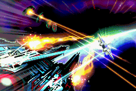Gradius Advance (2001) by Mobile21 GBA game