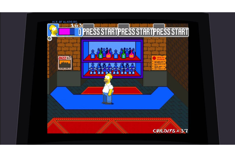 THE SIMPSONS 90s arcade game-(full game) - YouTube