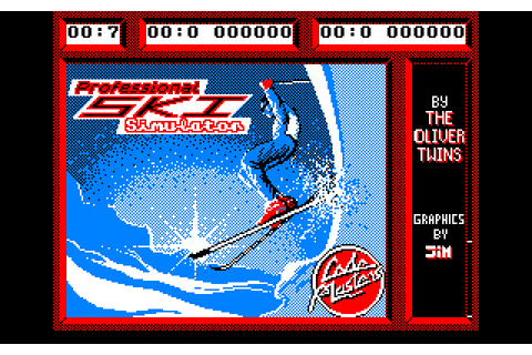 Professional Ski Simulator (1987) by Codemasters Amstrad ...